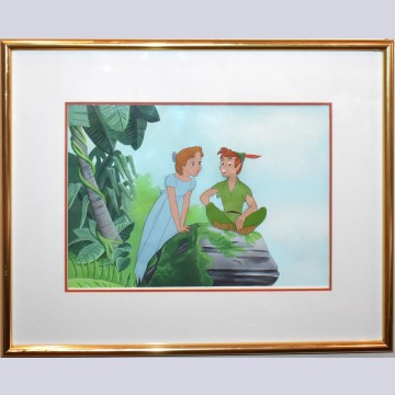 Original Walt Disney Production Cel featuring Peter Pan and Wendy