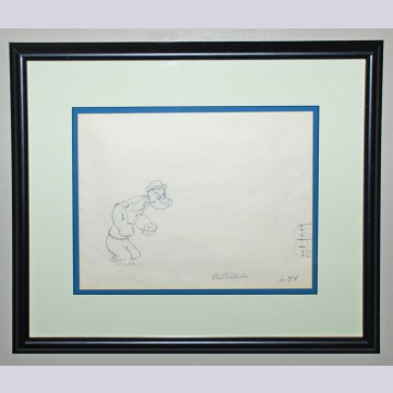Original Production Drawing of Popeye signed by Phil DiPaola