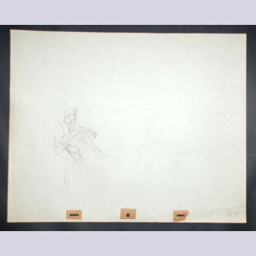 Original Walt Disney Production Drawing from Sleeping Beauty featuring Prince Phillip