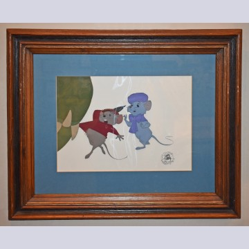 Original Walt Disney Production Cel from The Rescuers featuring Miss Bianca and Bernard