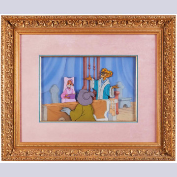 Original Disney Production Cels on Key Master Production Background from Robin Hood