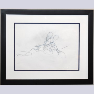 Original Walt Disney Production Drawing of Mickey Mouse from Runaway Brain (1995)