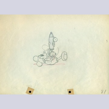 Original Walt Disney Sequence of 4 Production Drawings from Mickey's Garden (1935)