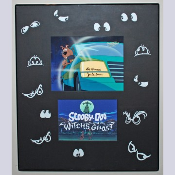 Hanna Barbera/Warner Bros. Production Cel from Scooby-Doo and The Witch's Ghost, Signed by Bill Hanna and Joe Barbera