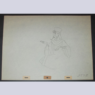 Original Walt Disney Production Drawing from Sleeping Beauty featuring King Stefan
