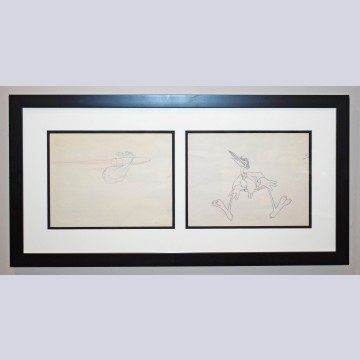 Original Walt Disney Animation Production Drawings of a Stork