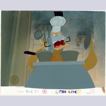 Disney Beauty and the Beast Cel Setup on Production Background featuring the Stove