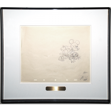 Original Walt Disney Production Drawing of Mickey Mouse and Donald Duck from Symphony Hour (1942)