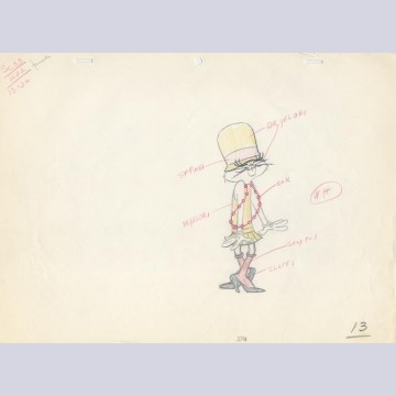 Original Production Drawing From The Unmentionables Featuring Bugs Bunny