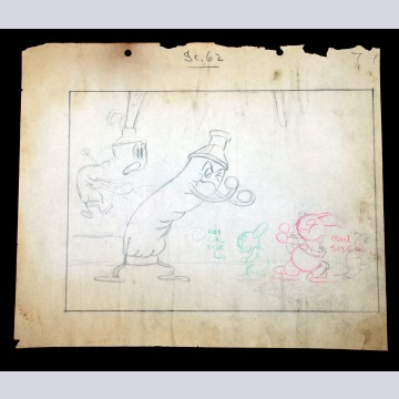 Walter Lantz Oswald Production Drawing