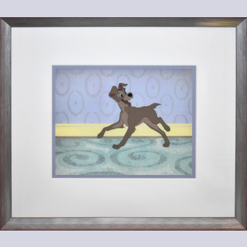 Original Walt Disney Production Cel from Lady and the Tramp featuring Tramp