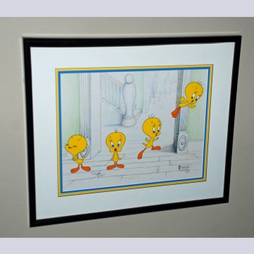 Original Warner Brothers Limited Edition Cel, Tweety's Gweat Escape