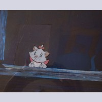 Original Walt Disney Production Cel from The Aristocats featuring Marie