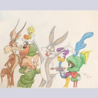 Warner Brothers Virgil Ross Animation Drawing