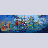 "Original Warner Brothers Animaniacs Limited Edition Cel ""Inside the Water Tower"""