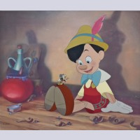 Original Walt Disney Pinocchio Limited Edition Cel, Anytime You Need Me