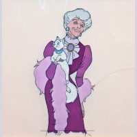 Original Walt Disney Production Cel from The Aristocats featuring The Duchess and Madame Adelaide Bonfamille