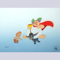 "Original Walt Disney Limited Edition Cel, ""Bacchus, Donkey, and Faun"" from Fantasia"