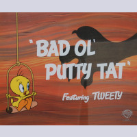 "Original Warner Brothers Limited Edition Sericel, ""Bad Ol' Putty Tat"""