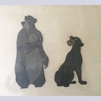 Original Walt Disney Production Cels on Color Copy Background from The Jungle Book featuring Baloo and Bagheera