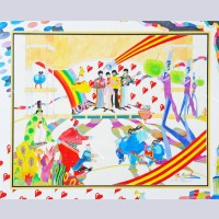 Original The Beatles Yellow Submarine Drawing by Ron Campbell