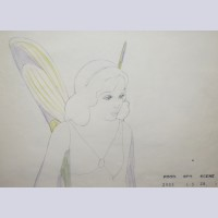 Original Walt Disney Production Drawing from Pinocchio featuring the Blue Fairy