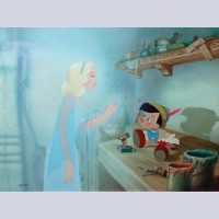 Original Walt Disney Limited Edition Cel from Pinocchio, Signed by Frank Thomas and Ollie Johnston