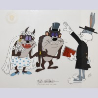 Warner Brothers Limited Edition Cel Tasmanian Devil and Bride II