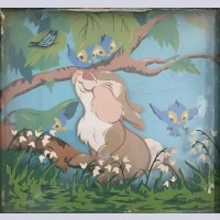 "Original Walt Disney Multiplane Painting ""Thumper No.3"" featuring Thumper"