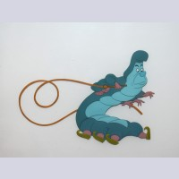 Original Walt Disney Production Cel from Alice in Wonderland featuring The Caterpillar