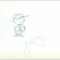 Original Peanuts Production Drawing featuring Charlie Brown