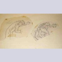 Original Walt Disney Production Drawing from Peter Pan featuring Crocodiles