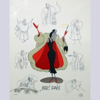 Original Walt Disney Limited Edition Masters Series featuring Cruella DeVil