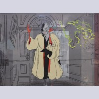 "Disney Animation Art Limited Edition Cel Featuring Cruella from ""Disney Villains Volume I,"" Signed by Ollie Johnston and Frank Thomas"