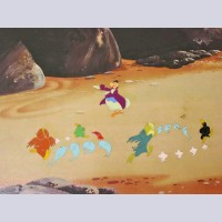 Original Walt Disney Production Cel set up from Alice in Wonderland Featuring Dodo and the fish
