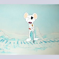 Original Crosgrove Hall Studio Production Cel Setup from Danger Mouse
