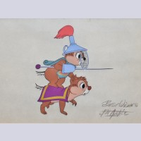 Original Walt Disney Production Cel from Dragon Around signed by Bill Justice