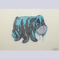 Original Walt Disney Production Cel from Winnie the Pooh and A Day for Eeyore featuring Eeyore