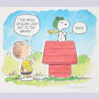 Charles Schulz Signed Lithograph, The Flying Ace