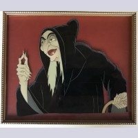 Walt Disney Production Cel on Color Copy Background featuring The Old Witch