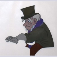 Original Disney Production Cel from The Aristocats of Georges Hautecourt
