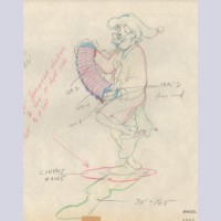 Original Walt Disney Production Drawing from Pinocchio featuring Geppetto