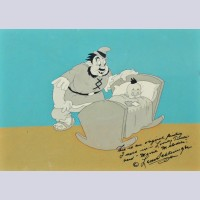 Original Warner Brothers Production Cel from Porky the Giant Killer (1939)