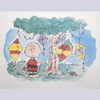 Charles Schulz Signed Lithograph, Good Grief