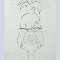 Original Chuck Jones Production Drawing of The Grinch from How the Grinch Stole Christmas