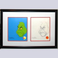Original Chuck Jones How the Grinch Stole Christmas Production Drawing With Matching 1/1 Cel