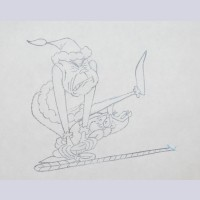 Original Chuck Jones Production Drawing of The Grinch and Max from How the Grinch Stole Christmas, Signed by Chuck Jones