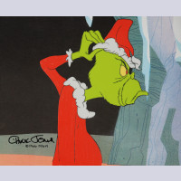 Original Signed Chuck Jones Production Cel of The Grinch from How the Grinch Stole Christmas