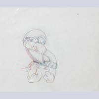 Original Walt Disney Production Drawing featuring Grumpy from Snow White and the Seven Dwarfs