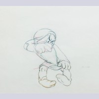 Original Walt Disney Production Drawing Featuring Grumpy